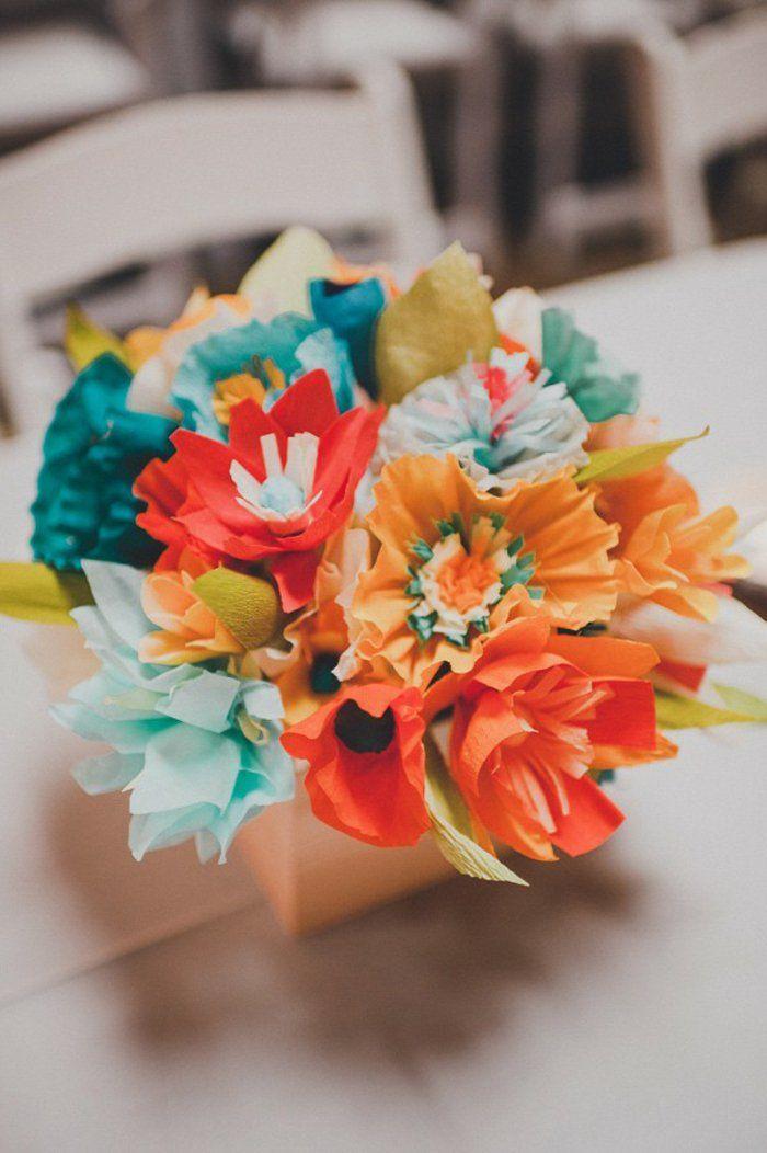 Comment Creer Une Fleur En Papier Crepon Wedding Bouquet