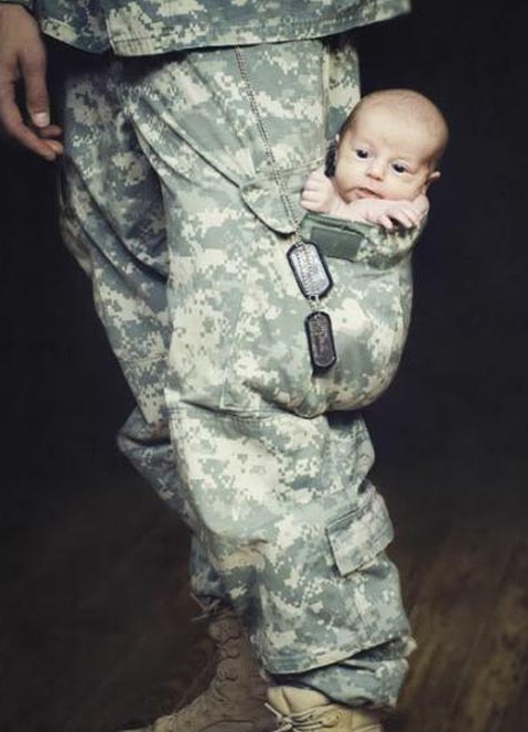 funny army baby