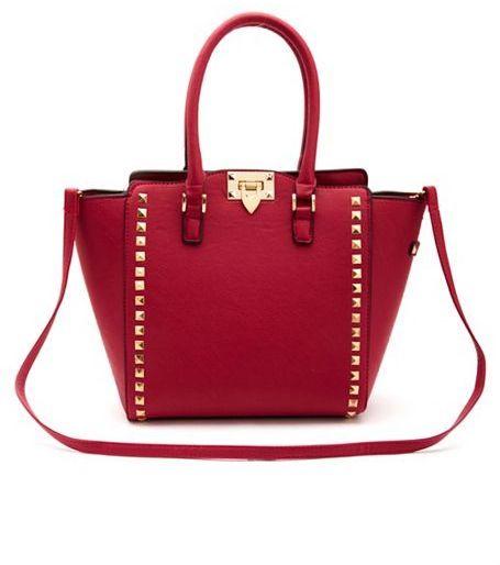 af65c69fa Charlotte Russe Studded Structured Tote Bag on shopstyle.com ...