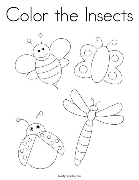 Color the Insects Coloring Page - Twisty Noodle in 2020 ...