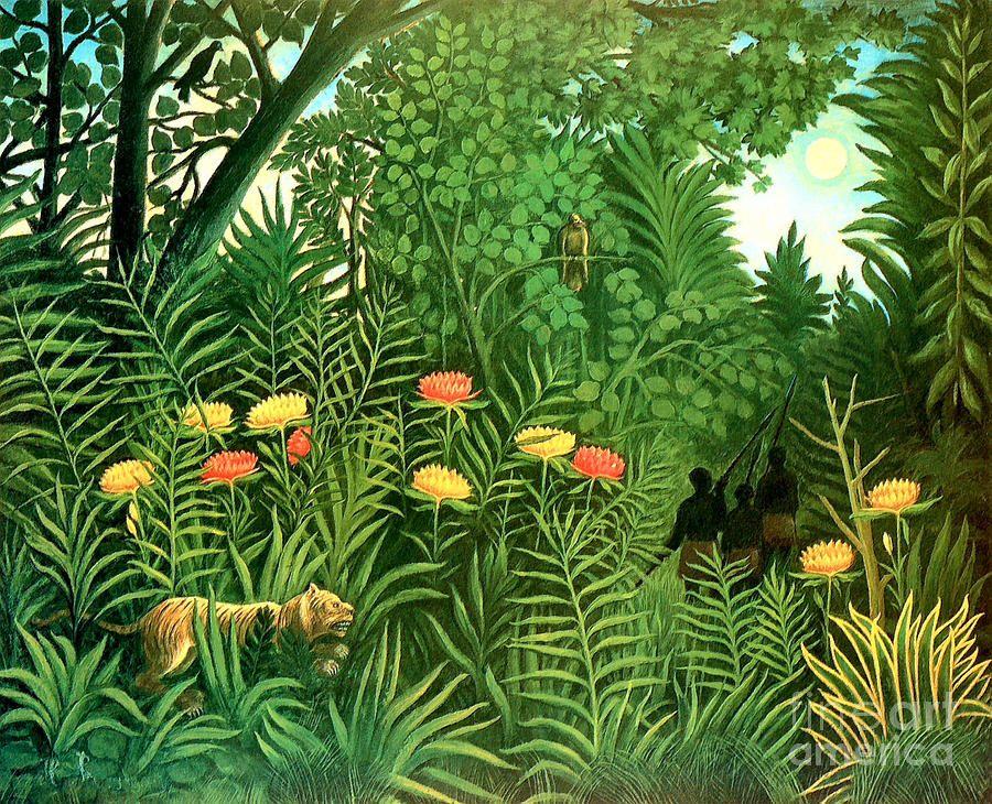 Paysage, d'après Henri Rousseau | Douanier ROUSSEAU - Henri ...