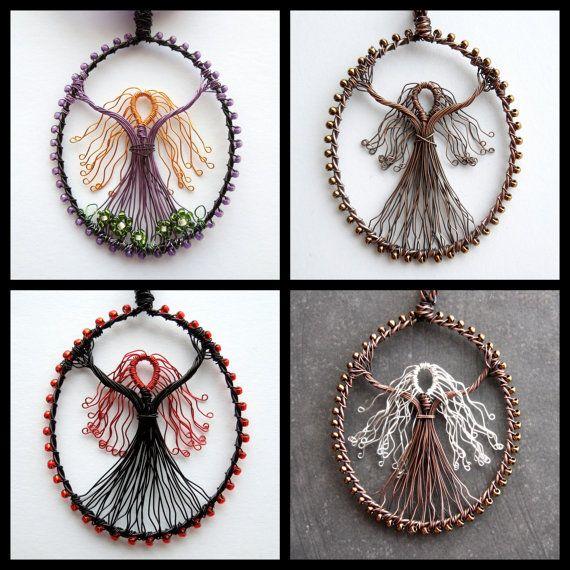 Wire goddess pendant, goddess wire pendant, custom jewelry, wire ...