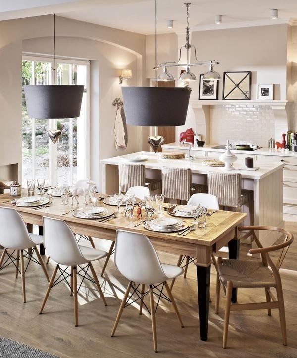 ESTILO RUSTICO: COCINA + COMEDOR + LIVING RUSTICO | Kitchen Section ...