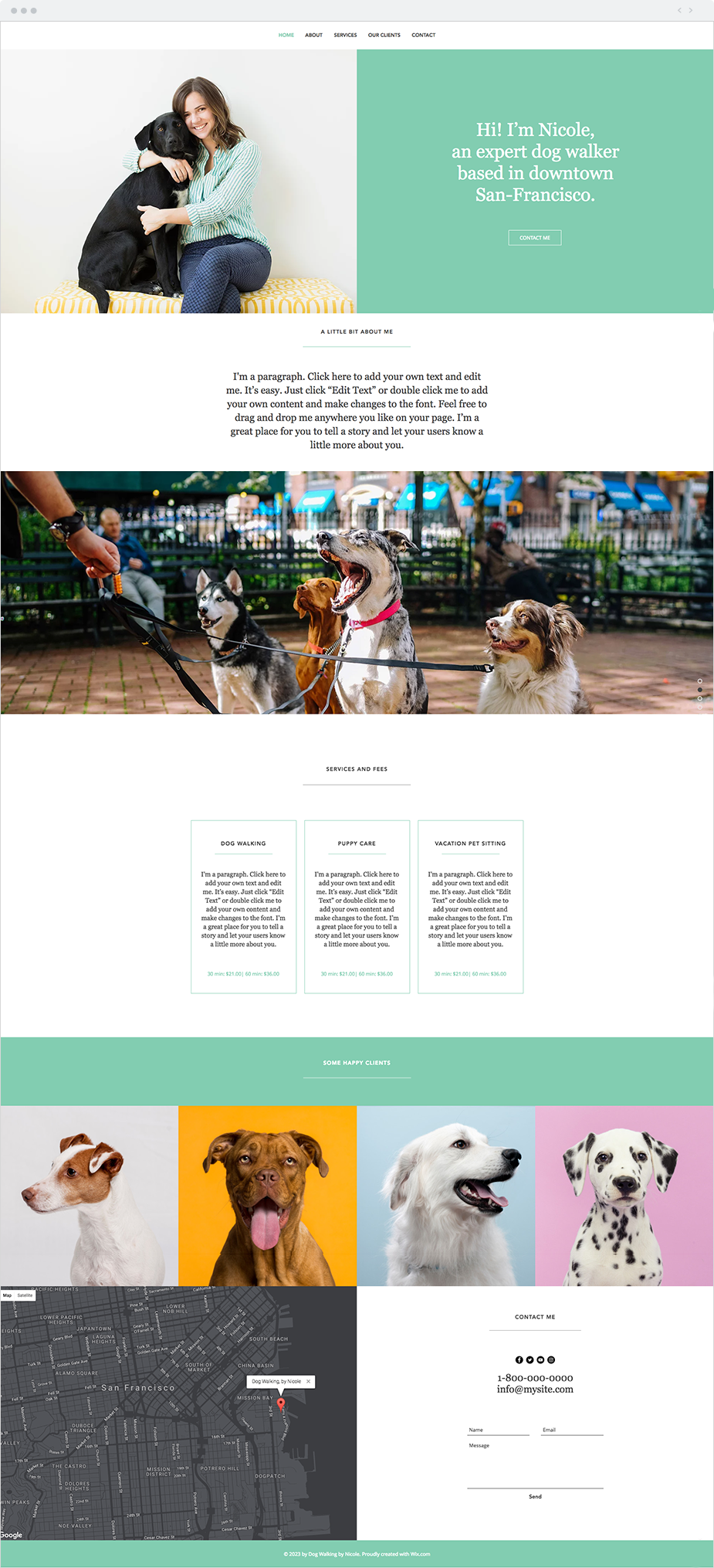 Dog Walking Website Template | Arts - Arts