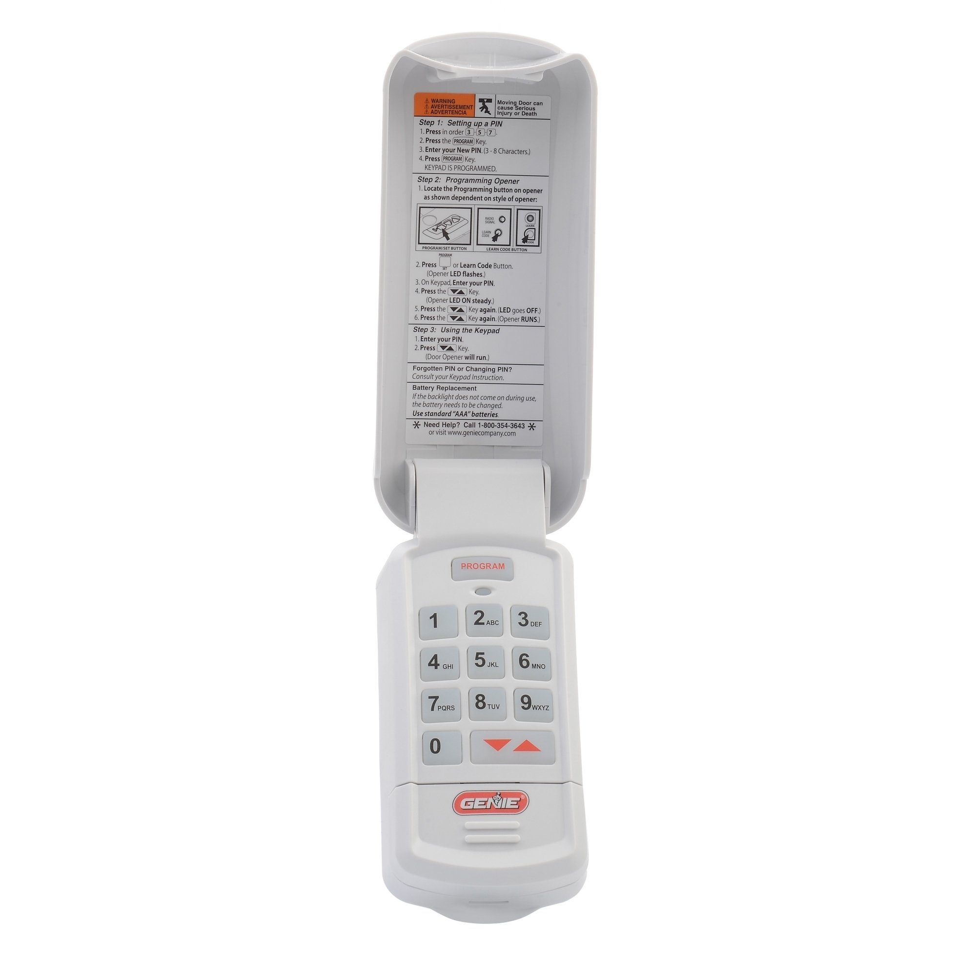 Genie Intellicode Garage Door Opener Wireless Keyless Keypad Garage Door Opener Wireless Keypad White Genie Garage Door Garage Door Opener Remote Garage Door Keypad