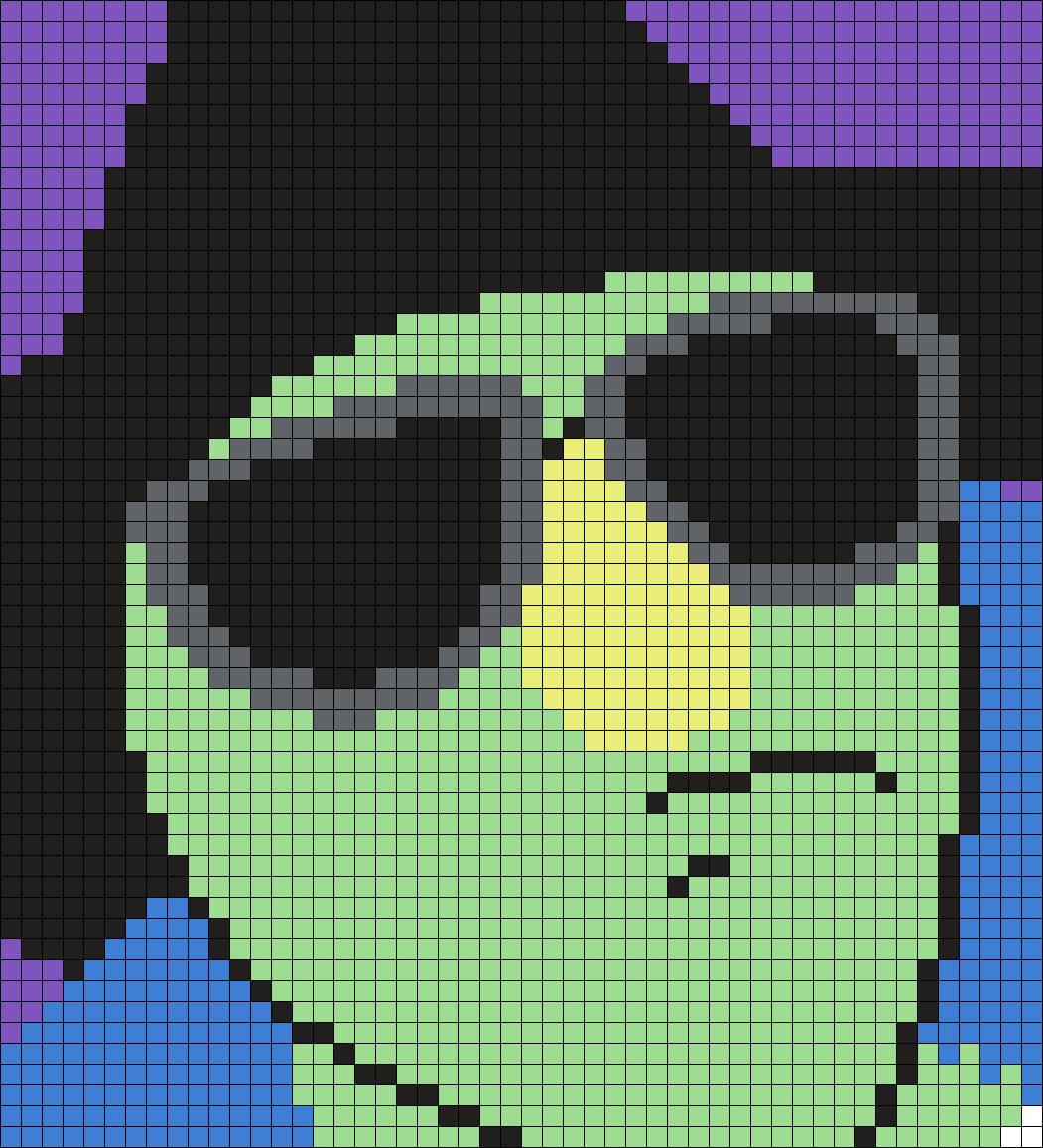 The Electric Mayhem's Zoot (Muppet) (Square) Perler Bead