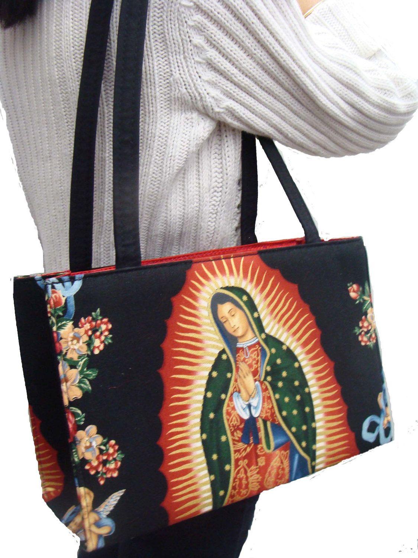 Lady Guadalupe Virgin Mary Us Handmade Handbag By Handmadefashion 39 99