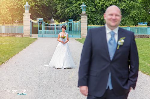 First Look Braut Brautpaar Hochzeitsfotografie