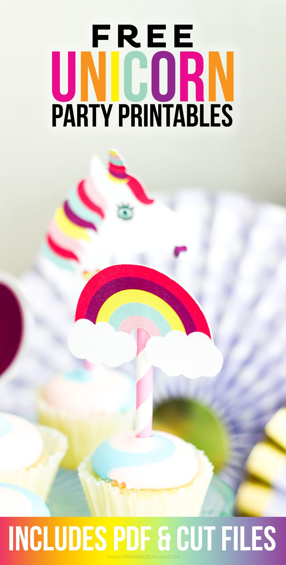 Download These Free Unicorn Party Printables For A