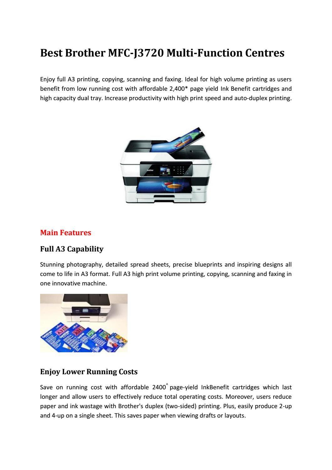 Brother Mfc J3720 Inkbenefit Ink Printer Brother Mfc Brother Printer