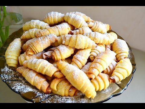 Печенье рогалики с начинкой