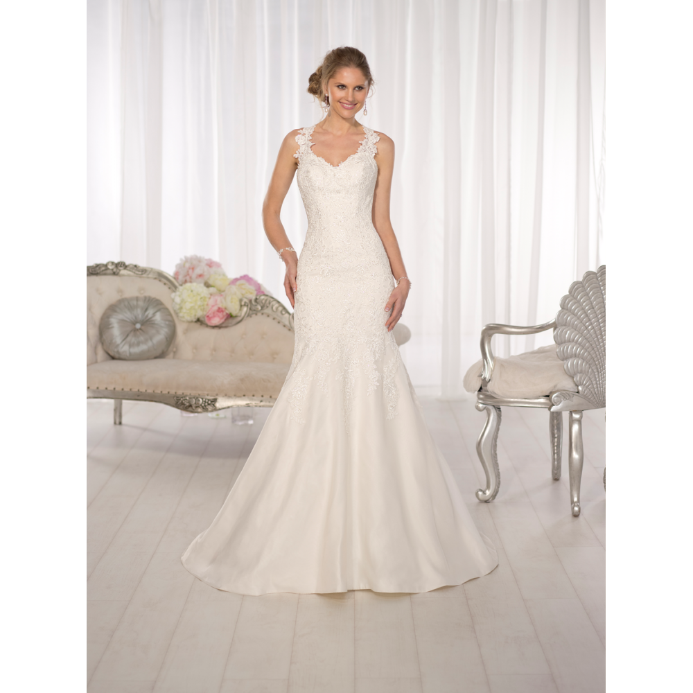 Essense of Australia Bridal Gown Style # D1616 Size 8, priced at ...