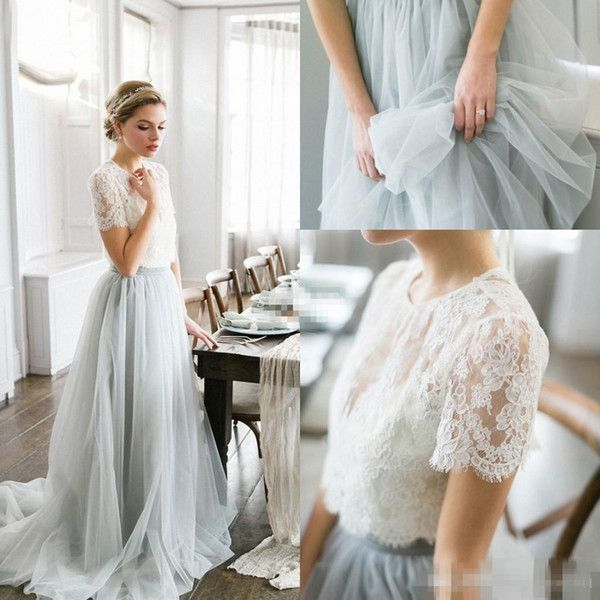 2016 Country Style Bohemian Bridesmaid Dresses Top Lace Short ...