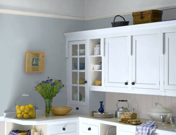 Blue Walls In Kitchen Gray Blue Walls Pale Gray Ceiling Kitchen 8 On Kitchen Ideas Grey Painted Kitchen Grey Kitchen Walls Light Blue Kitchens