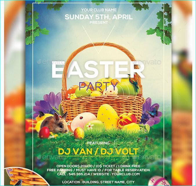 Easter Party Flyer  Party Flyer Templates For Clubs Business