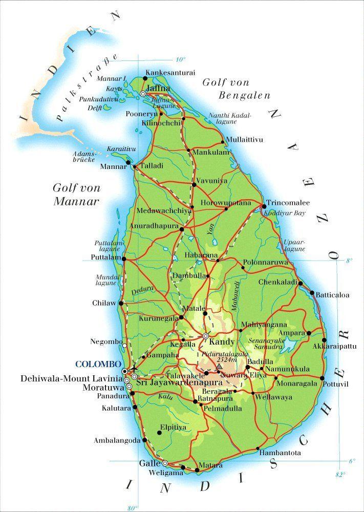 Colombo Sri Lanka Road Map Roads Pinterest Sri lanka
