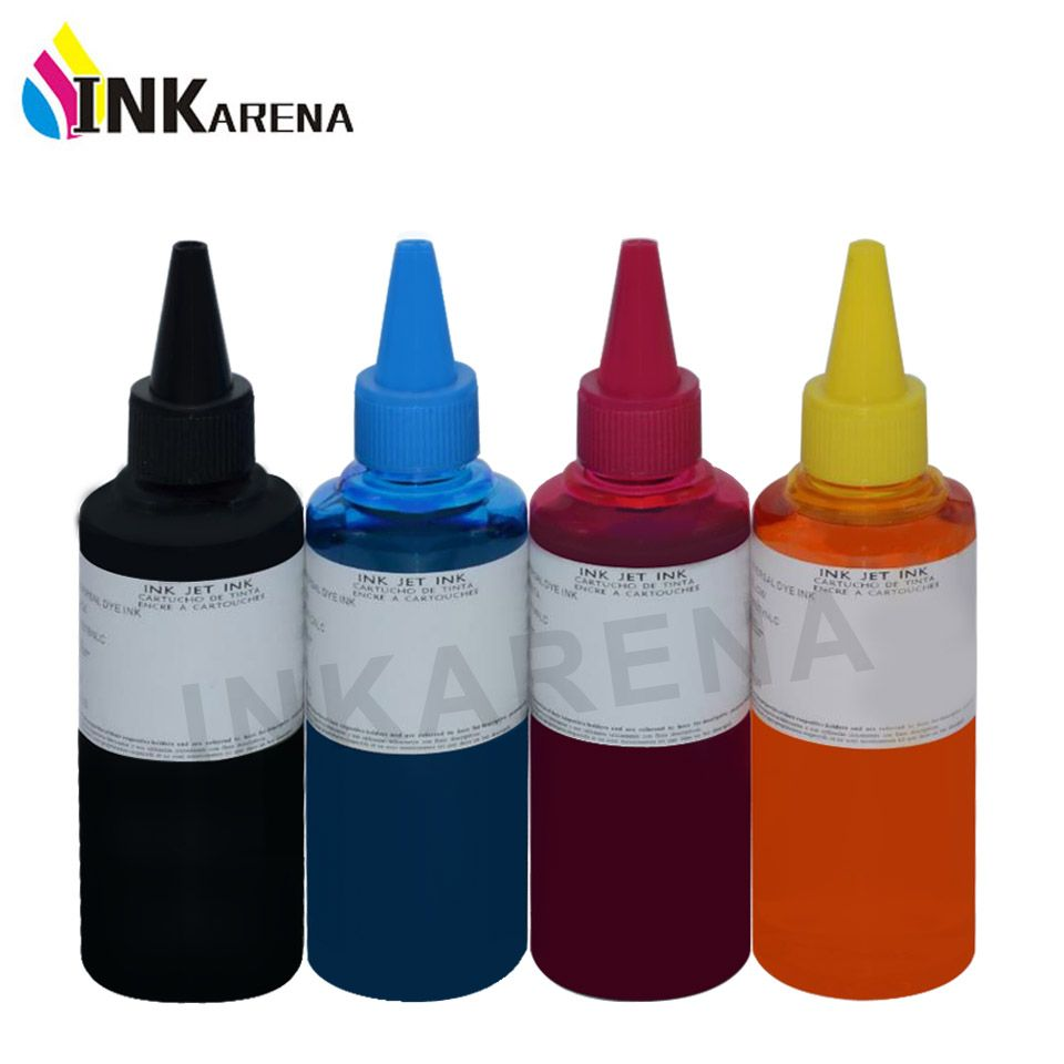 4 X 100ml Universal Compatible Refill Dye Ink Kit For Hp For Canon
