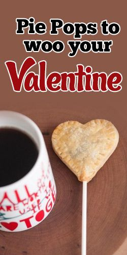 These Cute Heart-Shaped #Pie Pops Will Woo Your #Valentine! #Recipe