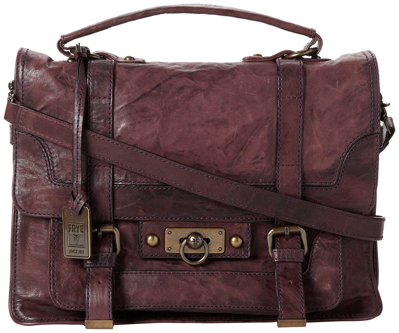 Frye cameron satchel handbagplumone size satchel