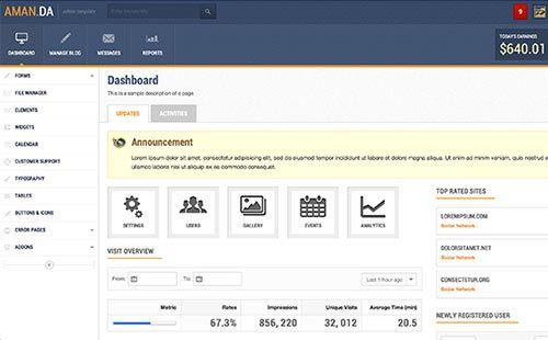 30 Premium Admin Backend Dashboard Templates | dashboard | Pinterest ...