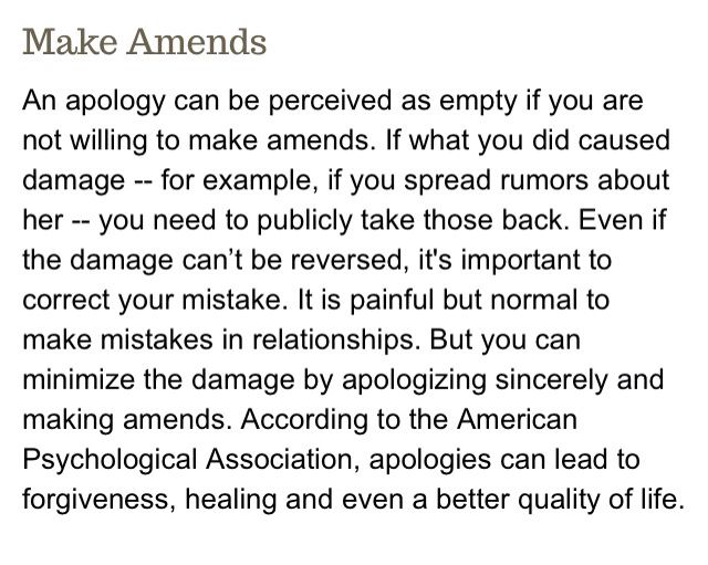 How To Make Amends With Someone You Hurt