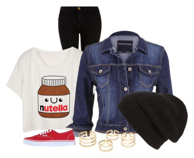 """""""Simple day"""" by sarahgarza15 ❤ liked on Polyvore featuring Current/Elliott, Vans, maurices, Phase 3, women's clothing, women, female, woman, misses and juniors"""