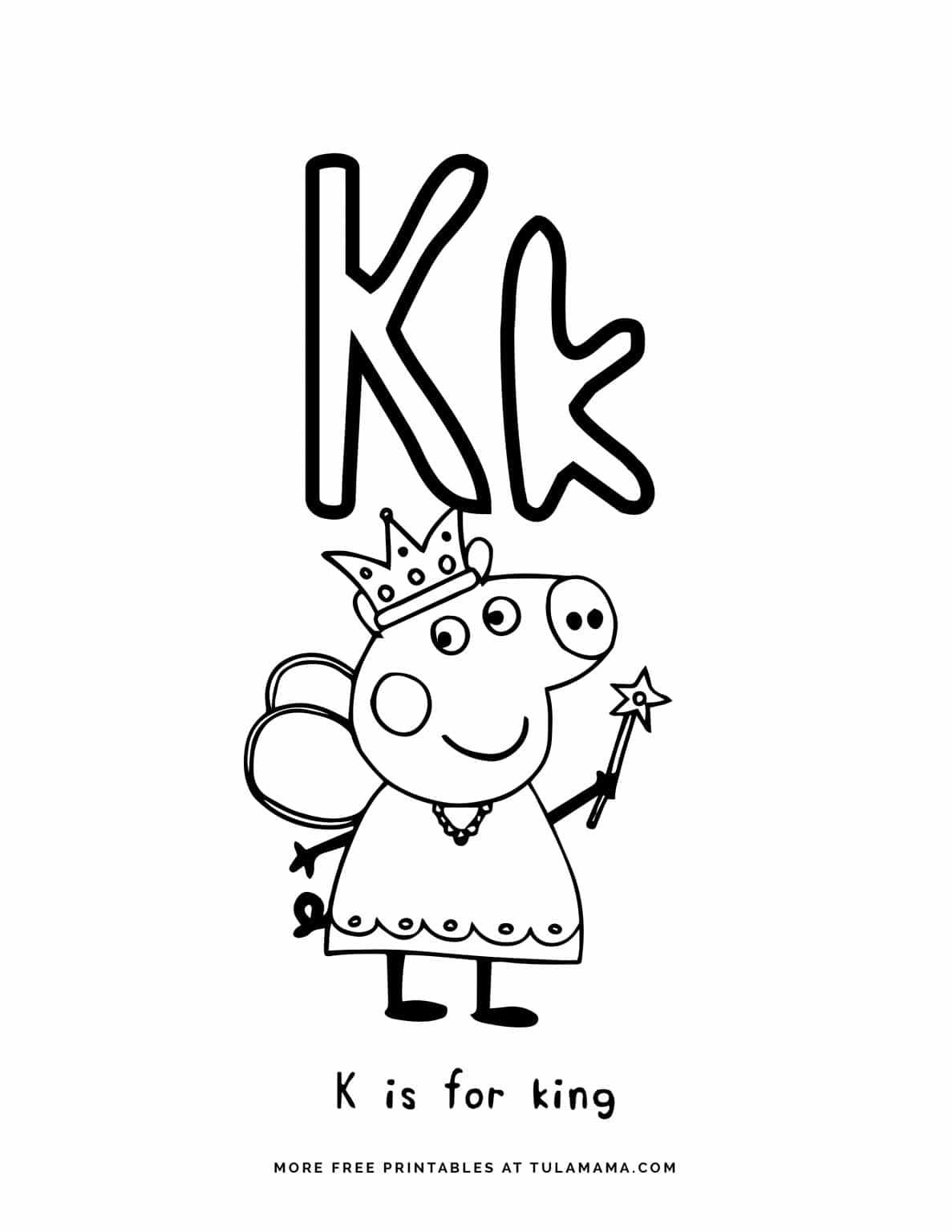 Free Printable Peppa Pig Abc Coloring Pages For Preschoolers Abc Coloring Pages Abc Coloring Abc Printables [ 1536 x 1187 Pixel ]