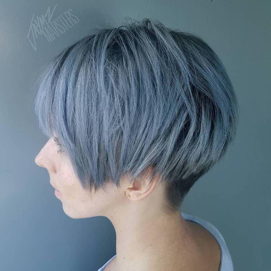 short haircuts for girls with added oomph pastel blue bobs and