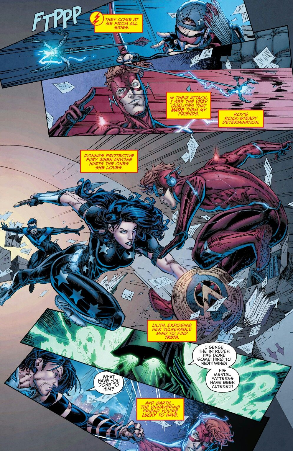 Teen Titans Rebirth  Teen Titans With Nightwing -9586