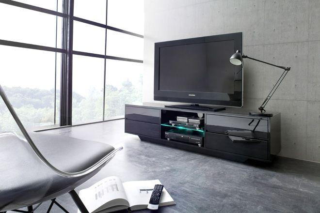 Tv Lowboard Erna Inklusive Led Beleuchtung Mit Fernbedienung