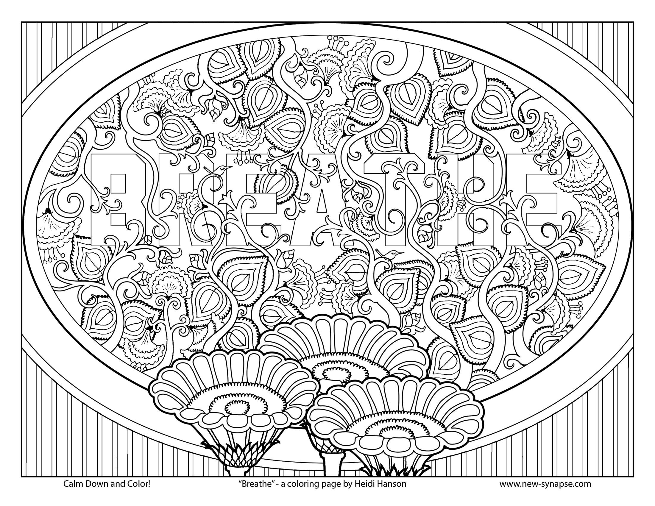 Free Coloring Page Breathe Coloring Pages Doodle Coloring