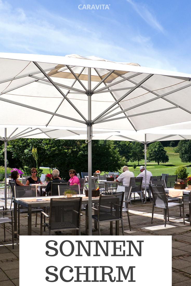 Der Sonnenschirm Supremo Sorgt Auf Terrassen Von Restaurants