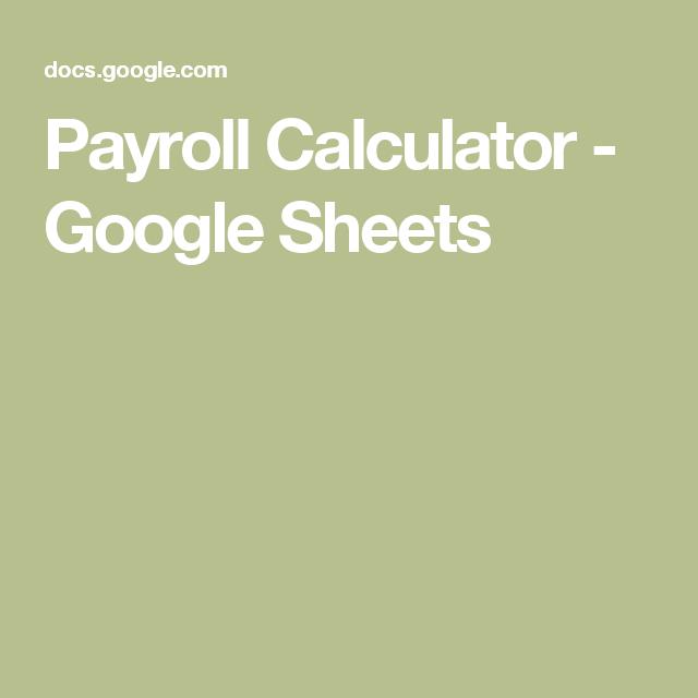 nanny payroll calculator
