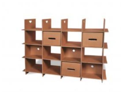 etagere tiroir tiroir meubles en carton