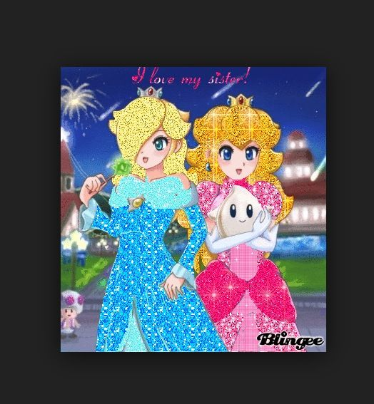 Rosalina and Princess Peach watch the Starlight Festival!