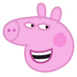 Cunning Peppa Pig Peppa Pig Stickers Peppa Pig Funny Peppa Pig Wallpaper
