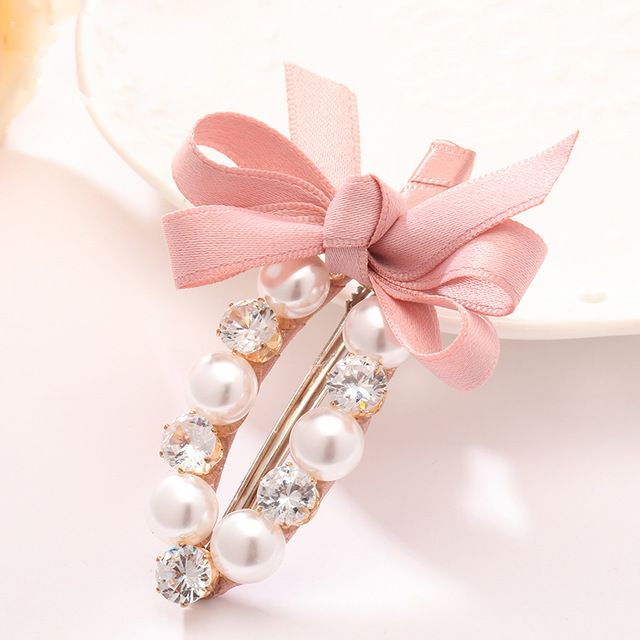 Online Shop 2017 Hot Girls Hair Clips Imitation Pearl Barrette Quality Blink Artificial Crystal Headwear for Women Bow Hair Accessories Clip | Aliexpress Mobile_en title