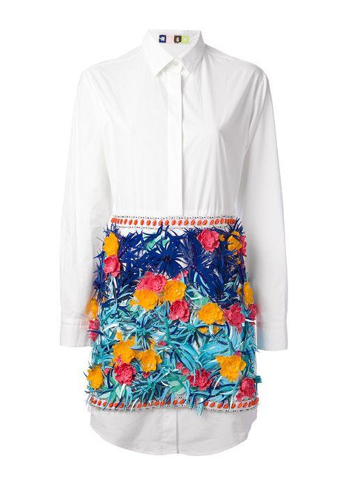 bbb31035706b2a MSGM floral detail shirtdress