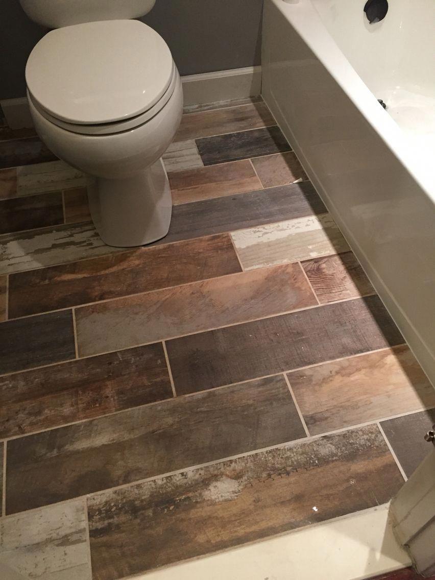 Tile Floor Plank Flooring Finished Floor Tile Montanga Vintage Chic By Home Depot Grout Color Bathroom Floor Tiles Ceramic Tile Bathrooms Trendy Bathroom Tiles