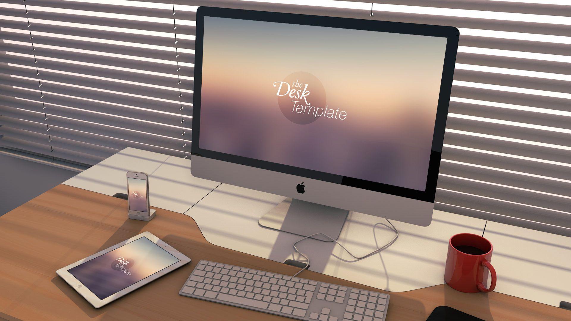 The Desk Mockup Template