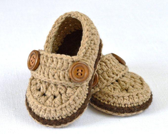 CROCHET Baby Booties PATTERN Little Loafers Easy photo tutorial ...