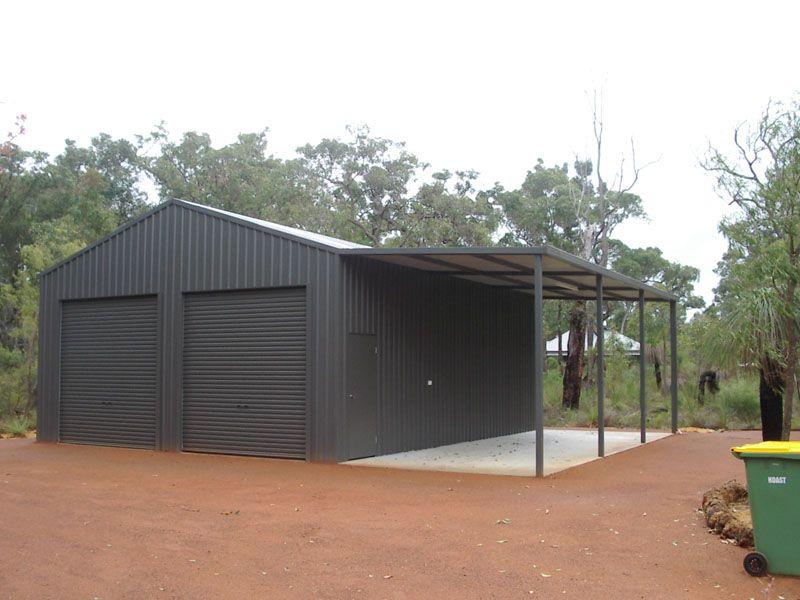 Shed with Carport Garage shop plans, Metal garage