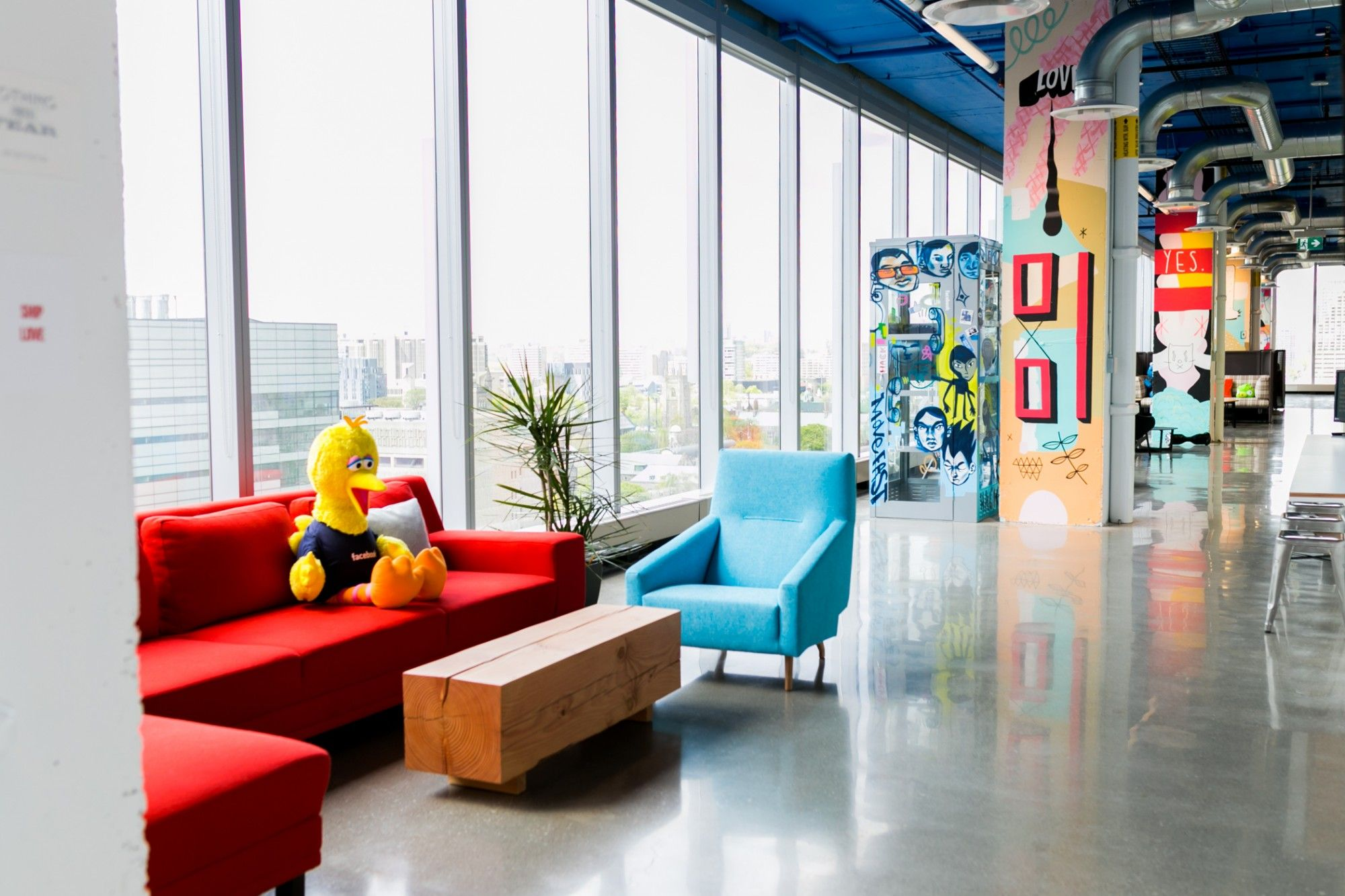 Inside Facebook Canada\'s colourful, art-filled office   toronto ...