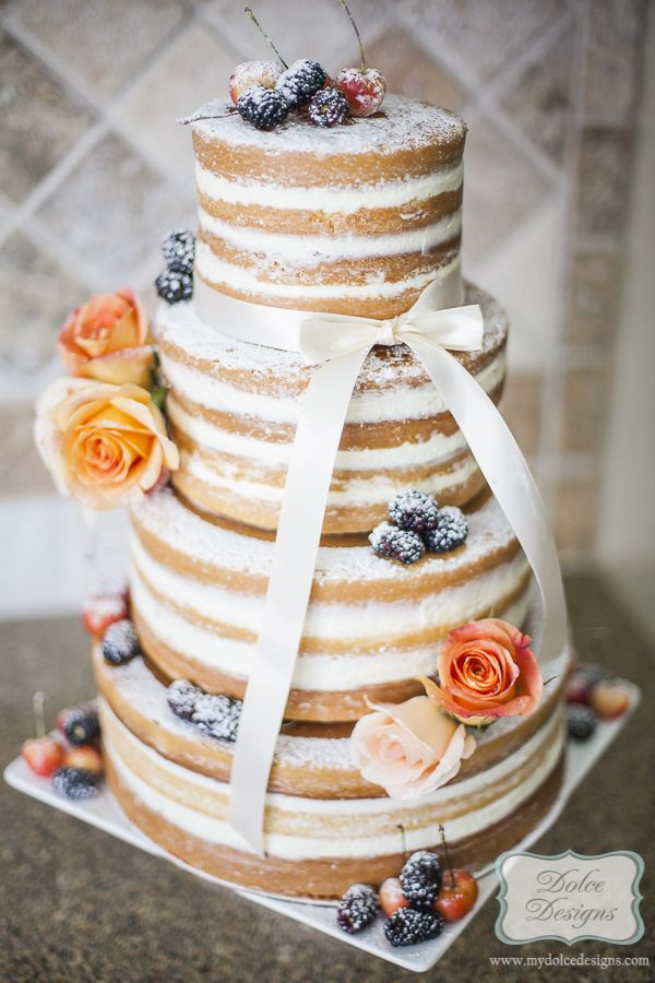 naked wedding cake by Dolce Designs in houston