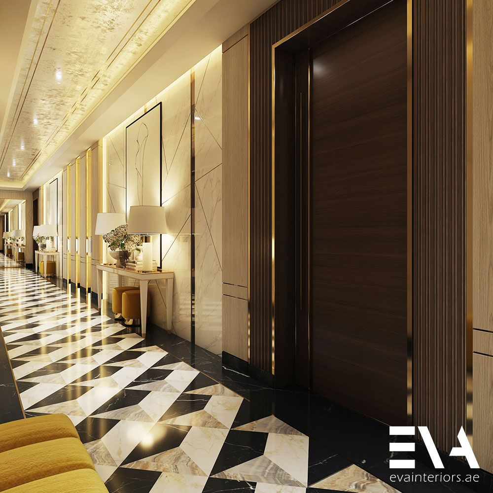 When Creating A Design For Long Corridors We Focus On Integrating Different Designs Along The Wall To Break Up The Uniformity Distinct Design Home Decor Home