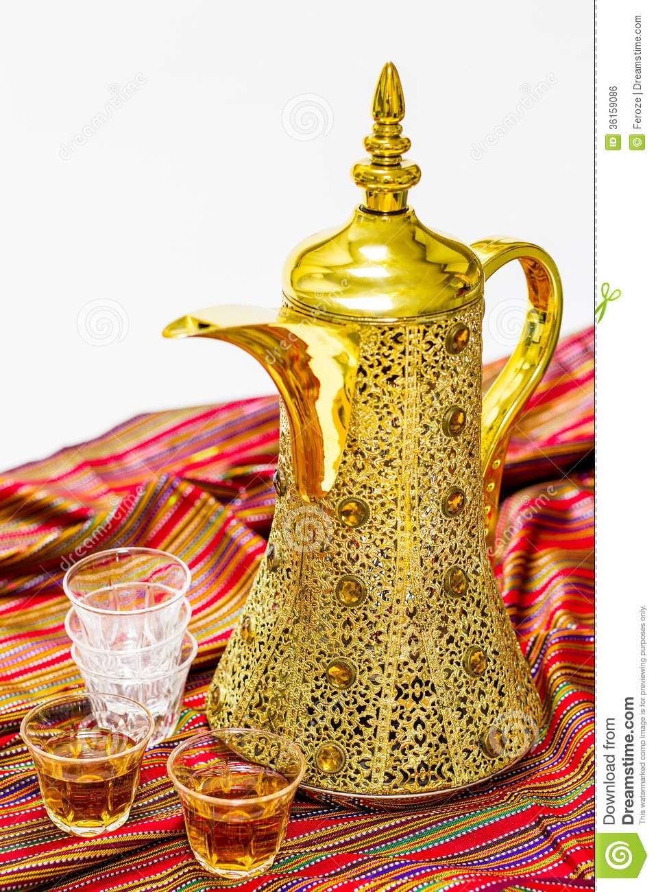 Arabic Coffee Pot Kahwa Glasses Cloth As Background 36159086 Jpg 957 1 300 Pixels Arabic Coffee Coffee Pot Coffee Enthusiast
