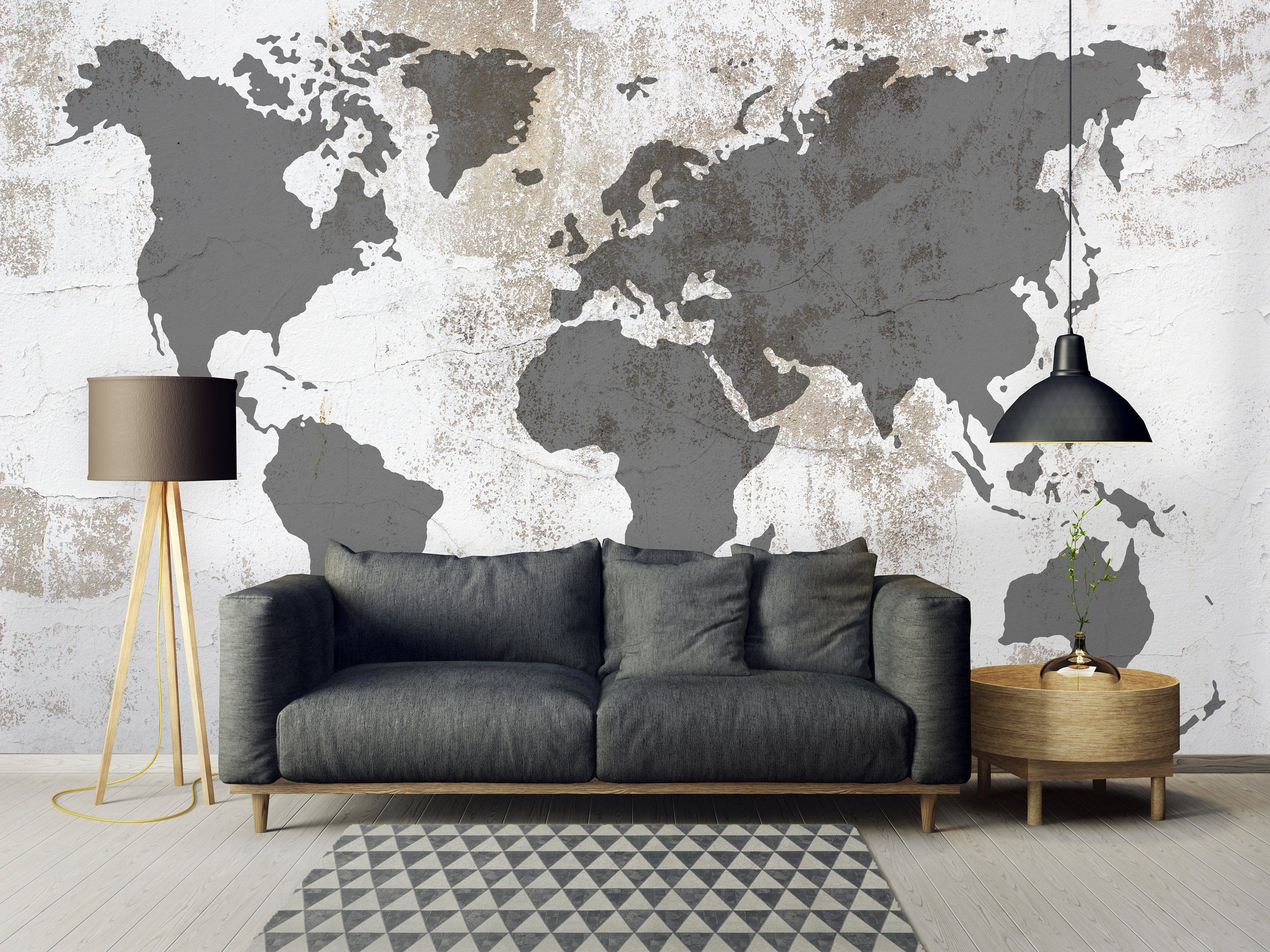 Removable Wallpaper Peel and Stick Cement Wallpaper