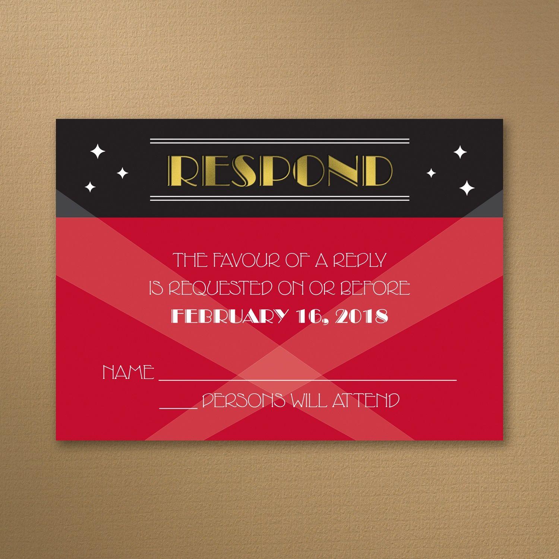 Red Carpet Event - Response Card and Envelope > Bar & Bat Mitzvah ...