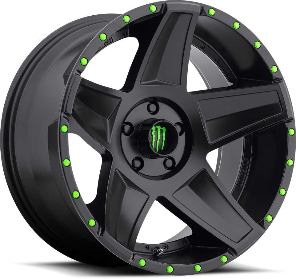 20x9 size with 5 00 backspacing 5x5 bolt pattern monster energy limited edition wheel