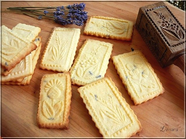 Lavender and almond biscuits